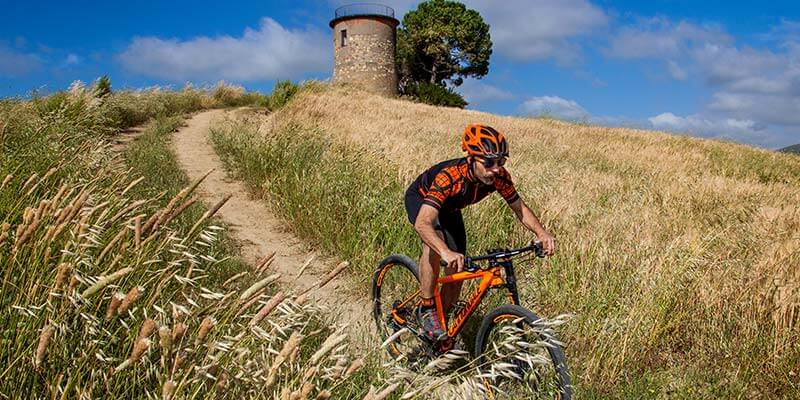 mountainbike in toscane